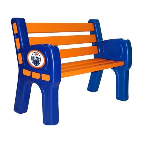 Edmonton Oilers Park Bench