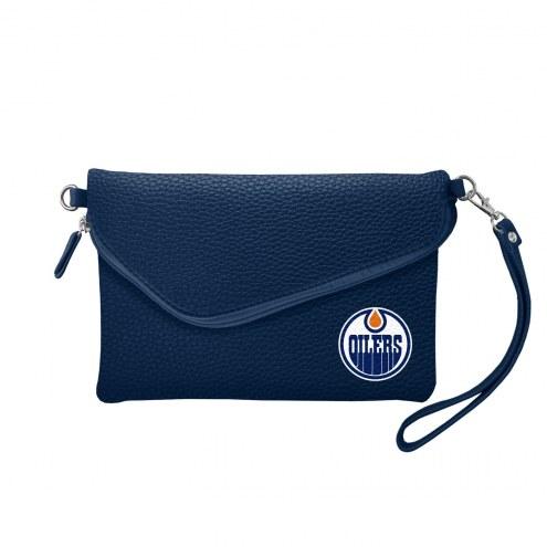 Edmonton Oilers Pebble Fold Over Purse