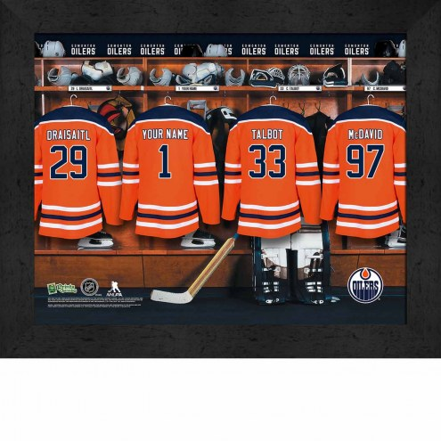 Edmonton Oilers Personalized 11 x 14 Framed Photograph