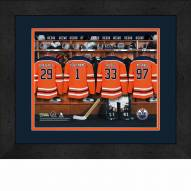 Edmonton Oilers Personalized Locker Room 13 x 16 Framed Photograph