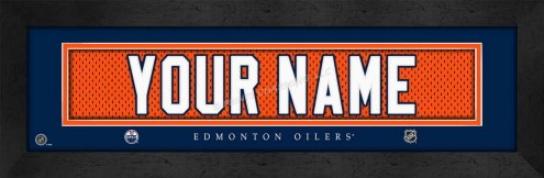 Edmonton Oilers Personalized Stitched Jersey Print