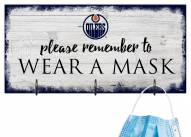 Edmonton Oilers Please Wear Your Mask Sign