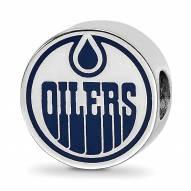 Edmonton Oilers Sterling Silver Enameled Bead