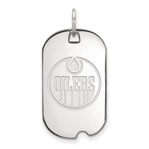 Edmonton Oilers Sterling Silver Small Dog Tag