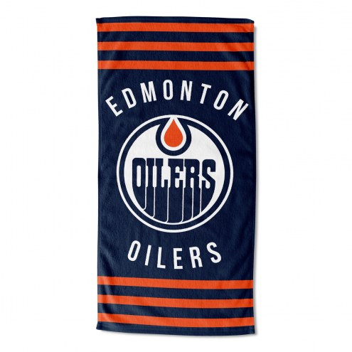 Edmonton Oilers Stripes Beach Towel