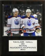 "Edmonton Oilers Taylor Hall- Ryan Nugent-Hopkins 12"" x 15"" Player Plaque"