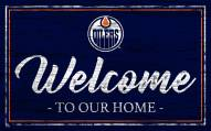 Edmonton Oilers Team Color Welcome Sign