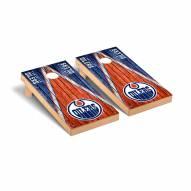Edmonton Oilers Weathered Triangle Cornhole Game Set