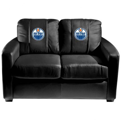 Edmonton Oilers XZipit Silver Loveseat