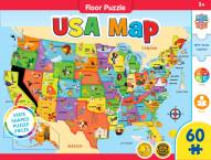 Educational USA Map 60 Piece Shaped Floor Puzzle