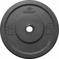 Element Fitness Commercial Black Bumper Weight Plate