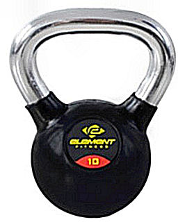 Element Fitness Commercial Chrome Handle Kettlebell - 40 lb
