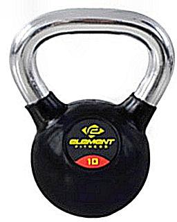 Element Fitness Commercial Chrome Handle Kettlebell - 50 lb