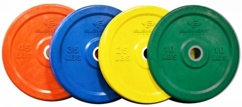 Element Fitness Commercial Colored Bumper Plates - 25 lb
