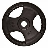 Element Fitness Commercial Olympic 3 Grip Handle Plates - 25 lb