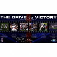 """Eli Manning Signed Giants """"The Drive to Victory"""" Filmstrip Collage 10x20 Photo"""