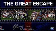 """Eli Manning Signed Giants """"The Great Escape"""" Filmstrip 10x20 Collage"""
