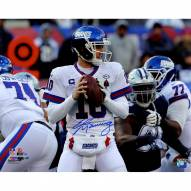 Eli Manning Signed Passing vs. Dallas In Giants Color Rush Throwback Uniform 16 x 20 Photo