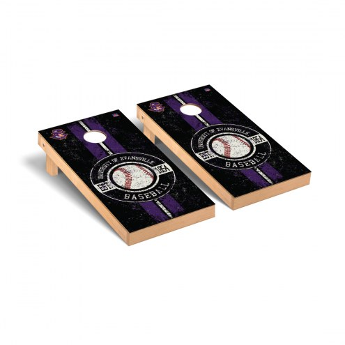 Evansville Purple Aces Baseball Vintage Cornhole Game Set