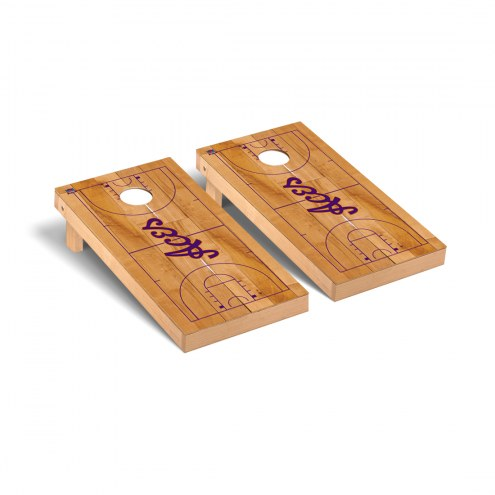 Evansville Purple Aces Basketball Cornhole Game Set