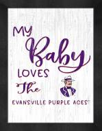 Evansville Purple Aces My Baby Loves Framed Print