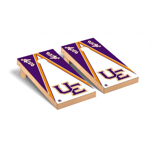Evansville Purple Aces Triangle Wooden Cornhole Game Set