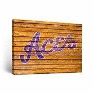 Evansville Purple Aces Weathered Canvas Wall Art
