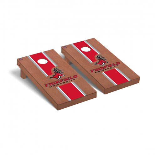 Fairfield Stags Rosewood Stained Stripe Cornhole Game Set