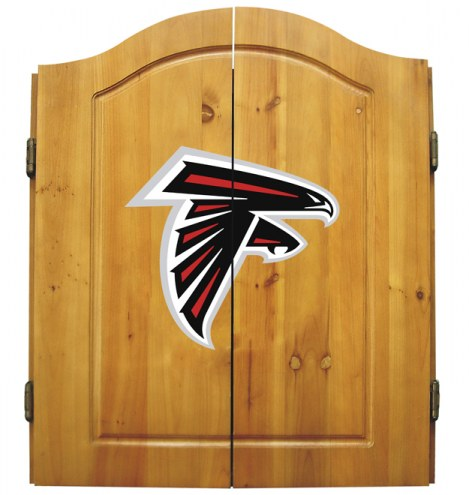 Atlanta Falcons NFL Complete Dart Board Cabinet Set (w/darts & flights)