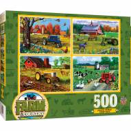 Farm & Country 4-Pack 500 Piece Puzzles