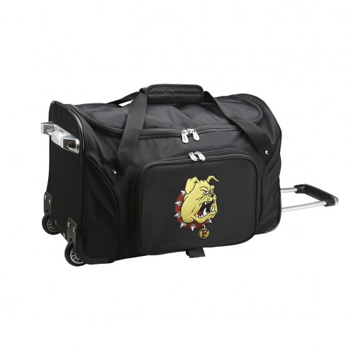 "Ferris State Bulldogs 22"" Rolling Duffle Bag"