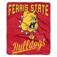 Ferris State Bulldogs Alumni Raschel Throw Blanket