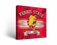 Ferris State Bulldogs Banner Canvas Wall Art