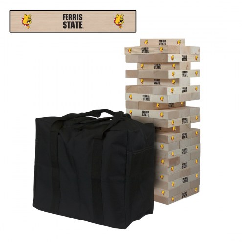 Ferris State Bulldogs Giant Wooden Tumble Tower Game