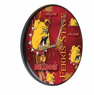 Ferris State Bulldogs Digitally Printed Wood Clock