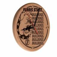 Ferris State Bulldogs Laser Engraved Wood Clock