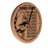 Ferris State Bulldogs Laser Engraved Wood Clock