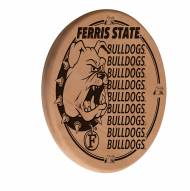 Ferris State Bulldogs Laser Engraved Wood Sign