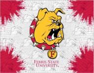 Ferris State Bulldogs Logo Canvas Print