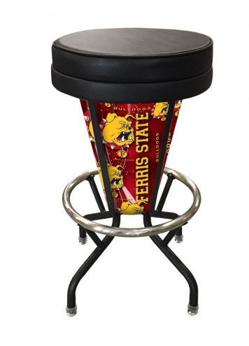 Ferris State Bulldogs Indoor Lighted Bar Stool