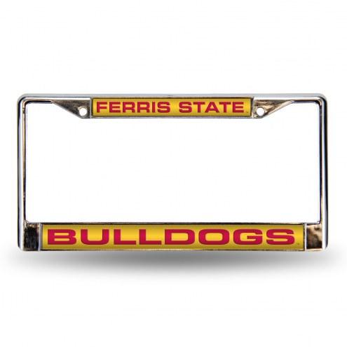 Ferris State Bulldogs Laser Chrome License Plate Frame