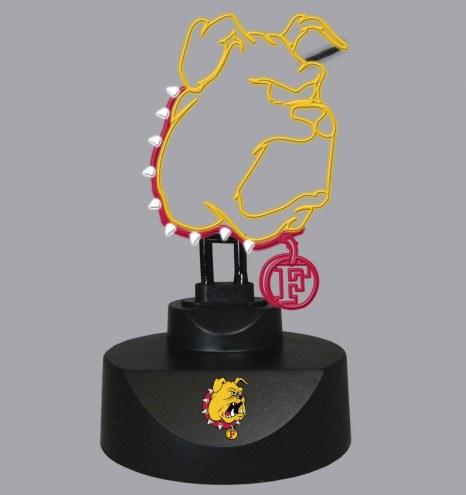 Ferris State Bulldogs Team Logo Neon Lamp