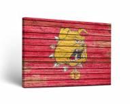Ferris State Bulldogs Weathered Canvas Wall Art