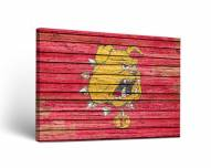 Ferris State Bulldogs Weathered Canvas Wall Art