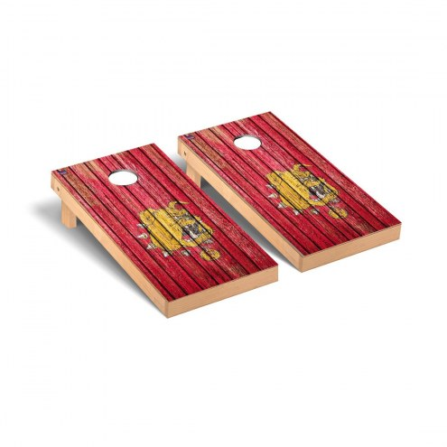 Ferris State Bulldogs Weathered Cornhole Game Set
