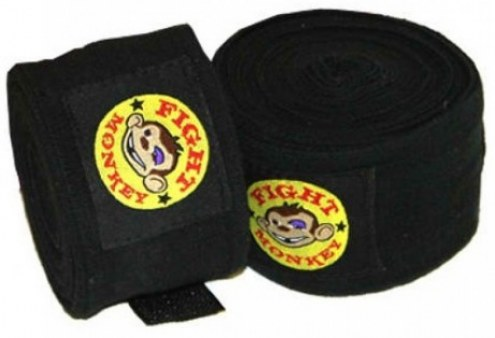 Fight Monkey Mexican Hand Wraps - Black - Pair