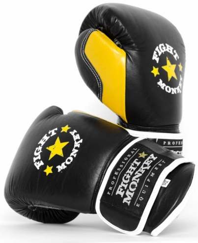 Fight Monkey Pro Series Leather 16 oz Gloves
