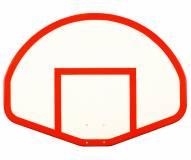 "First Team 39"" x 54"" FT275 Fan-Shaped Fiberglass Basketball Backboard"