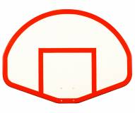 "First Team 39"" x 54"" FT275 Fan-Shaped Fiberglass Basketball Backboard"