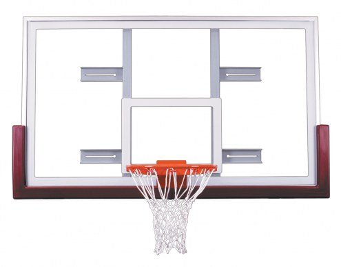 """First Team 42"""" x 72"""" FT240 Unbreakable Competition Glass Conversion Basketball Backboard"""